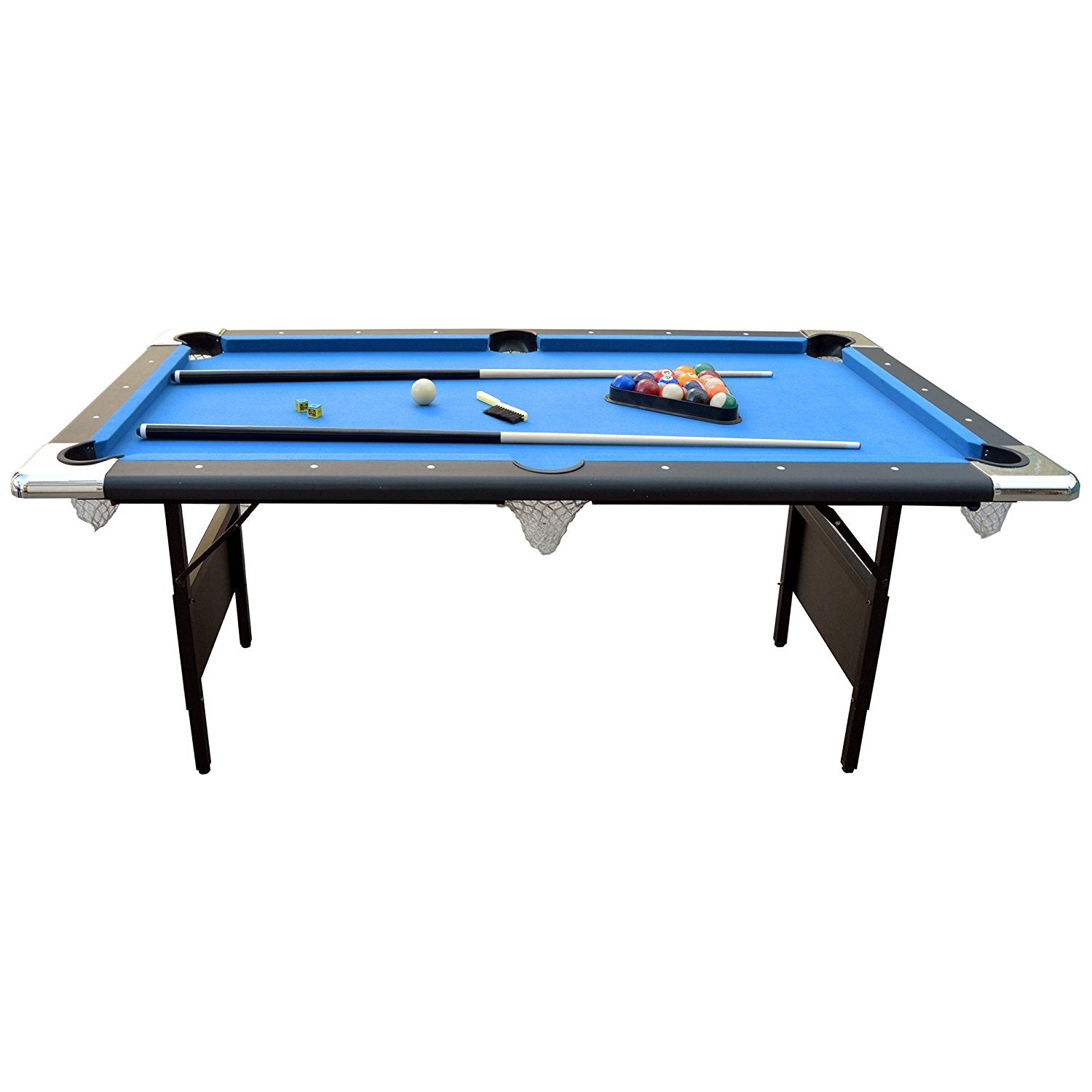 Portable 6 Ft Pool Table For Families With Easy Folding For Storage I Spencer Deals