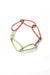 Modular Bracelet in Light Raspberry and Green Sand - medium