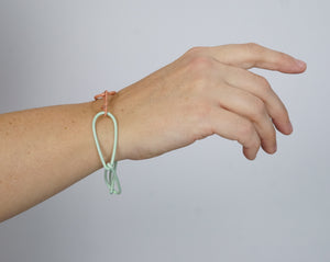 Modular Bracelet in Soft Mint and Dusty Rose - medium