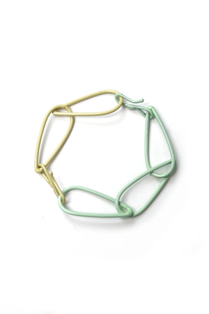 Modular Bracelet in Soft Mint and Green Sand - medium