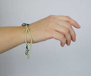 Modular Bracelet in Green Sand and Deep Ocean - large/extra large