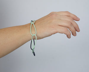 Modular Bracelet in Soft Mint and Dark Navy - large/extra large