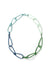 Modular Necklace in Azure Blue, Fresh Green, Soft Mint, and Faded Teal