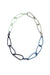 Modular Necklace in Dark Navy, Azure Blue, Soft Mint, and Stone Grey