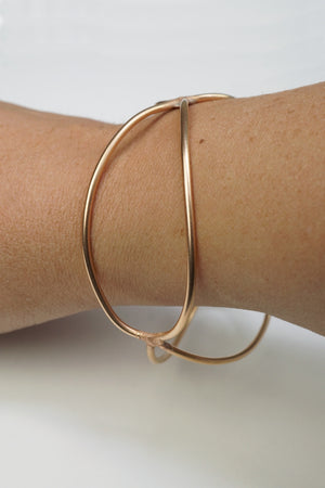 wide monument bracelet in bronze