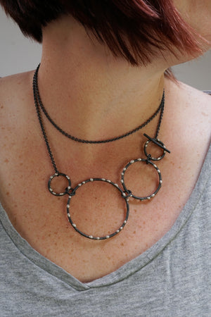 DeFeo Necklace - Silver on Steel - sample sale