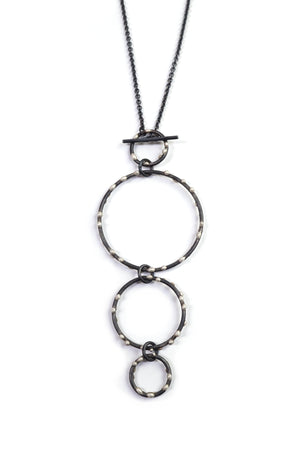 DeFeo Necklace - Silver on Steel
