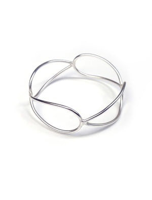 quadrant monument bracelet in silver