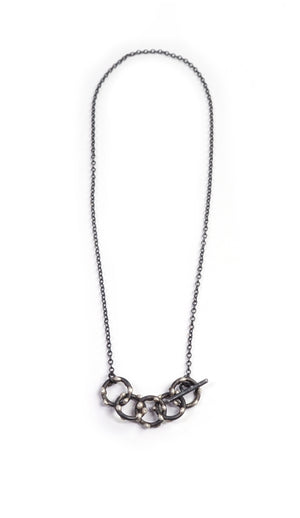 Vita Necklace - Silver on Steel