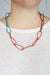 Modular Necklace in Coral Red, Lush Burgundy, and Bold Teal