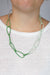 Modular Necklace in Fresh Green, Soft Mint, and Stone Grey