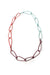 Modular Necklace in Lush Burgundy, Coral Red, and Faded Teal