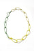 Modular Necklace in Pale Green, Bright Yellow, and Green Sand