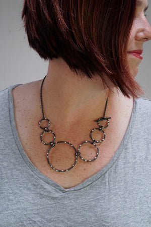 Zoe Necklace - Silver on Steel