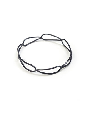 narrow monument bracelet in steel - sample sale