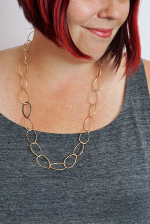 Ellen necklace - bronze with steel accent