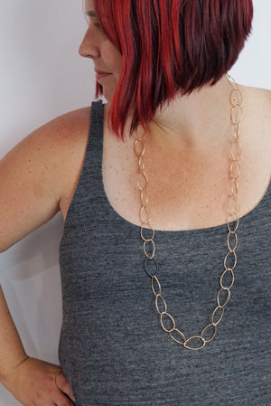 Alice necklace - bronze with steel accent