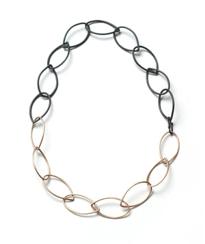 steel and silver Audrey necklace - Shift Collection