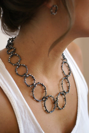 Vivian Necklace - Silver on Steel