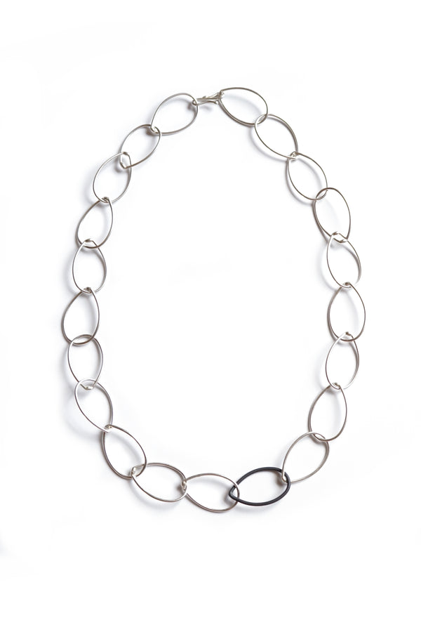 Audrey necklace - silver with steel accent