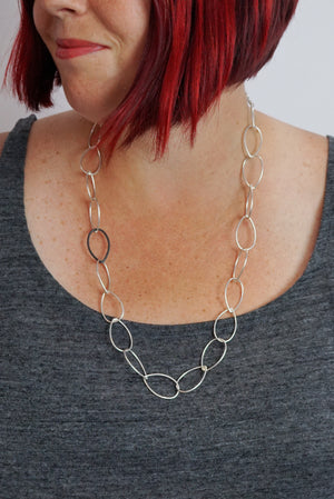 Ellen necklace - silver with steel accent