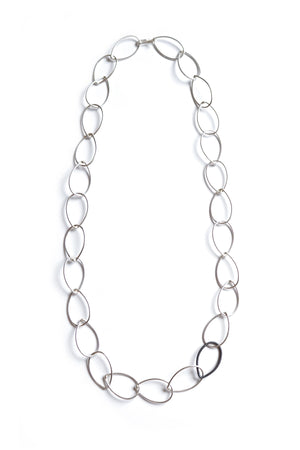 Ellen necklace - silver with steel accent - sample sale