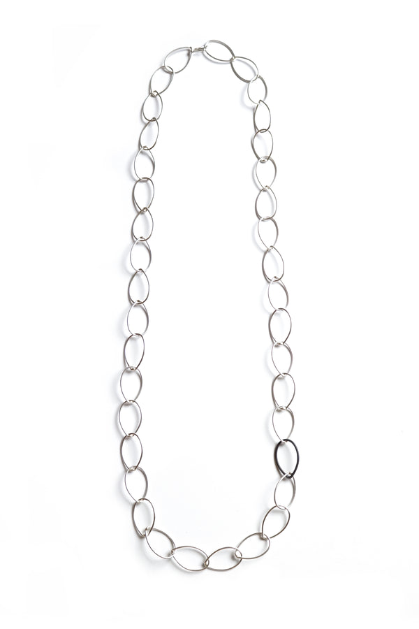 Alice necklace - silver with steel accent