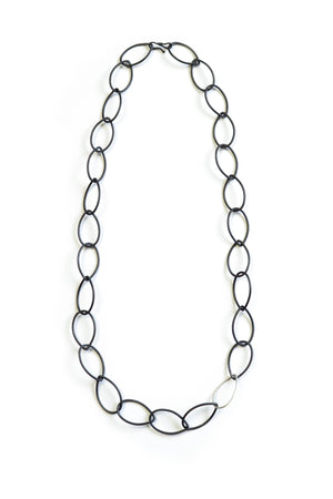 Ellen necklace - steel with silver accent