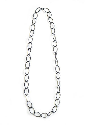 Alice necklace - steel with silver accent