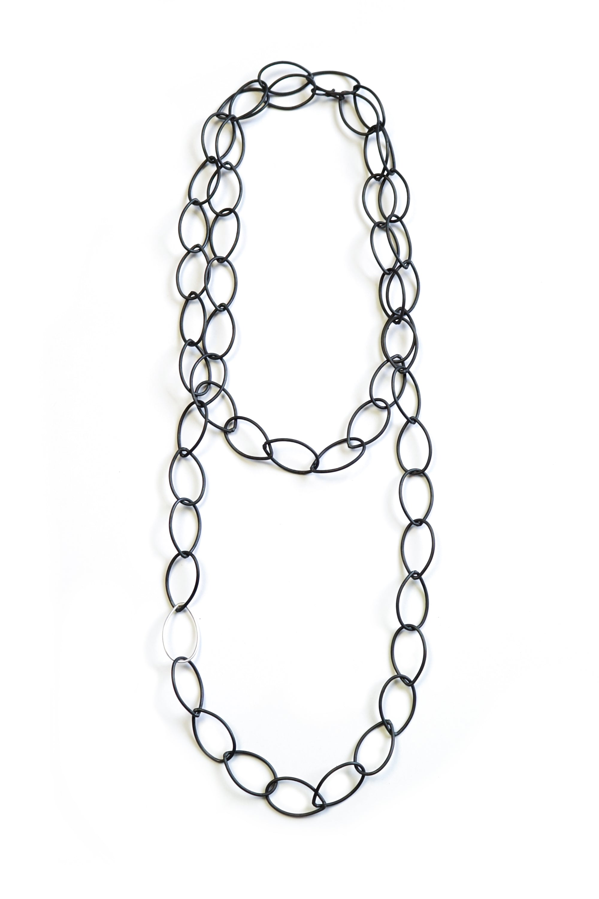 Lucy necklace - steel with silver accent