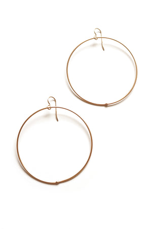 extra large Evident earrings in bronze