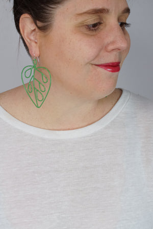 Ada Earrings in Fresh Green