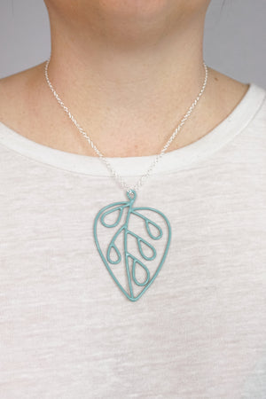 Ada Pendant in Faded Teal