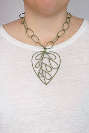 Extra Large Ada Pendant in Olive Green