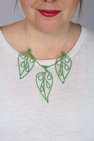 Triple Ada Drop Necklace in Fresh Green