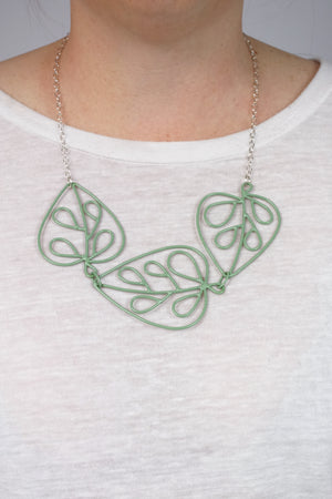 Triple Ada Necklace in Pale Green