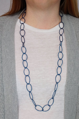 Alice necklace in Azure Blue and Blue Sapphire