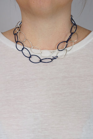 Alice necklace in Silver and Blue Sapphire