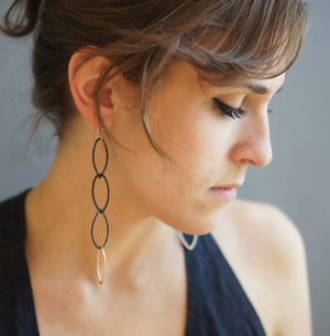asymmetrical Audrey earrings