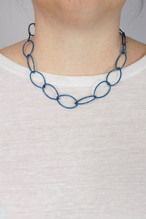 Audrey necklace in Azure Blue and Blue Sapphire