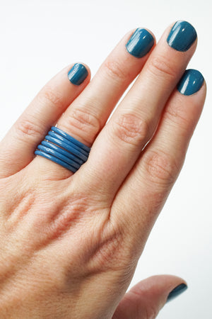Stacking Ring in Azure Blue
