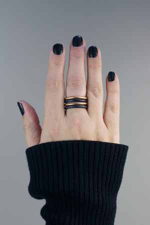 black stacking rings (set of two)
