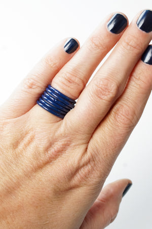 Stacking Ring in Blue Sapphire