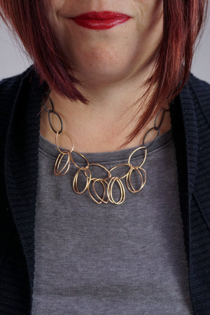 Ilhan necklace in steel and bronze