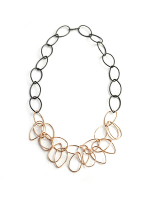Ayanna necklace in steel and bronze