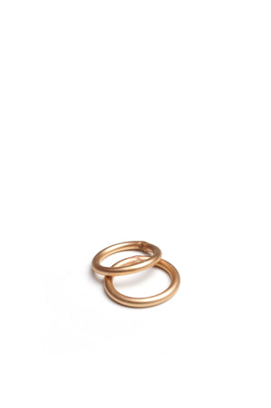 bronze stacking midi ring (set of two)