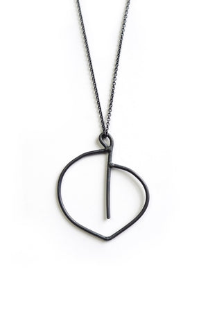 Courbe Necklace in black steel, silver, or bronze
