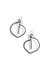 Courbe Earrings in black steel, silver, or bronze