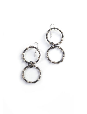 Vivian Earrings - Silver on Steel
