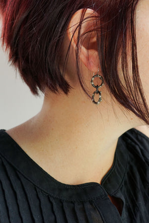 Petite Vita Earrings - Silver on Steel